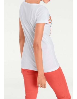 Gėlėti vasariniai marškinėliai