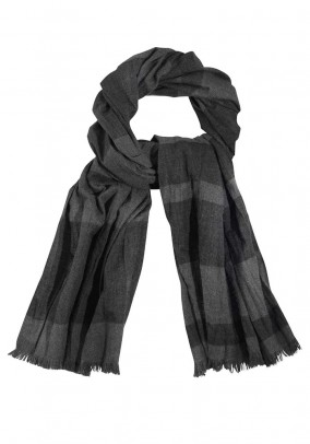 Brand scarf, gray-black