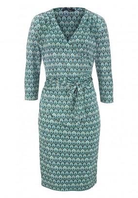 Designer wrap dress, mint-colored