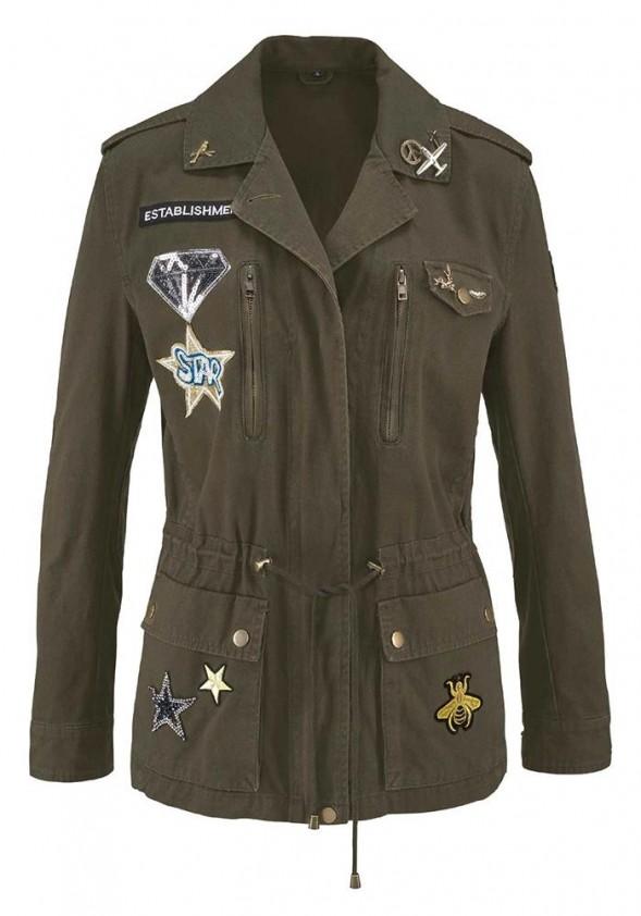 Brand jacket m  Badges u  Pins, khaki
