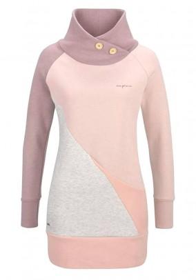 Brand sweatshirt, pink-purple
