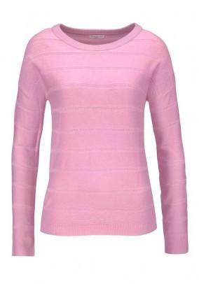 Fine knit sweatshirt, pink