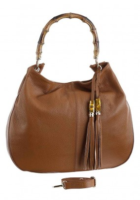 Leather bag, cognac