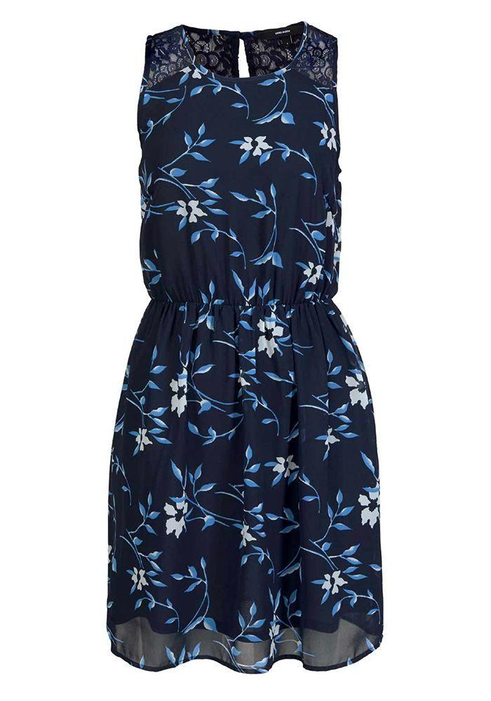 0710ae025666 Chiffon dress, dark blue