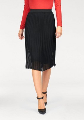 Pleat skirt, black