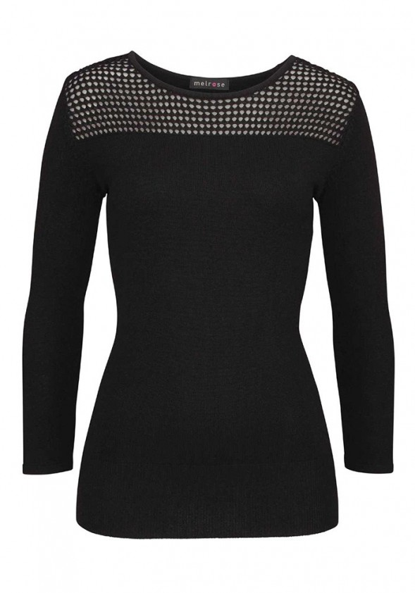 """Juodas megztinis """"Simple"""""""