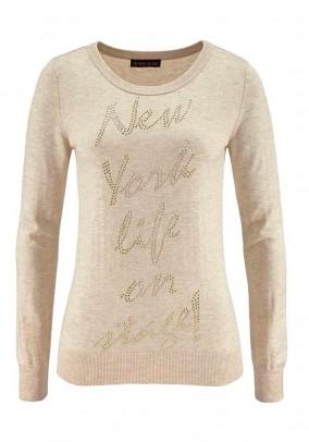 """Smėlinis megztinis """"New York"""""""