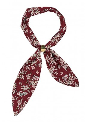 Scarf with ornamental ring, bordeaux