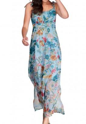 Ilga turkio spalvos suknelė