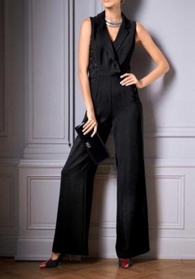 Evening jumpsuit, black