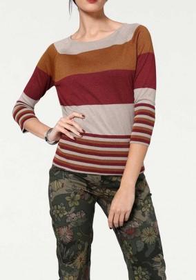 Margas dryžuotas megztinis