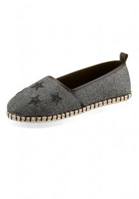 Slipper, silver grey