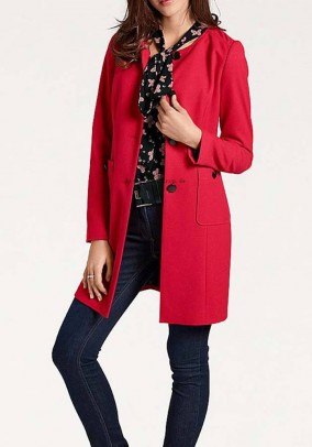 Long blazer, red