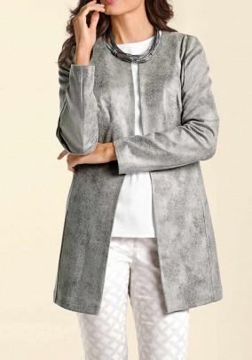 Leather imitation jacket, grey used