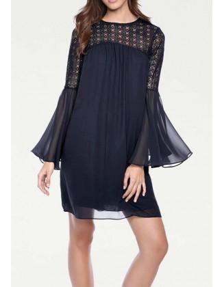 """Mėlyna kokteilinė suknelė """"Linea"""""""