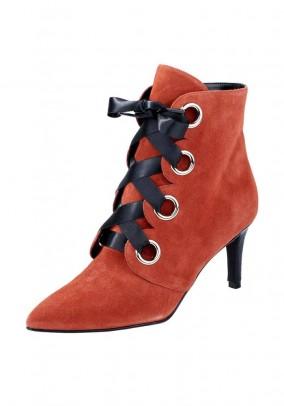 Odiniai koralo spalvos batai