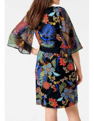 Gėlėta susiaučiama suknelė