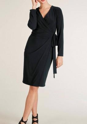 Wrap dress, black