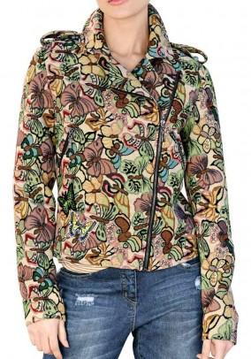 Biker jacket, multicolour