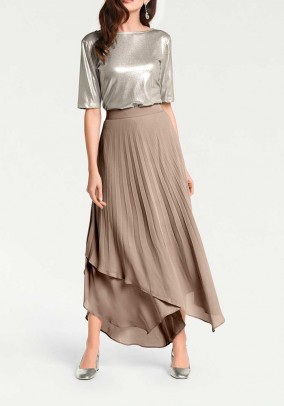 Pleat skirt, taupe