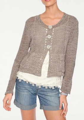 Trumpas rudas megztinis