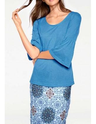 Ryškiai mėlyni marškinėliai