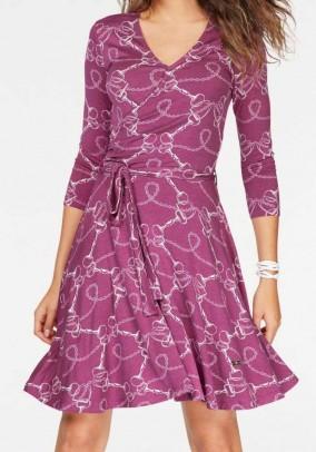 Jersey dress, berry