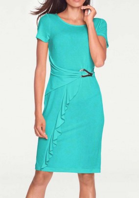 Jersey dress, turquoise