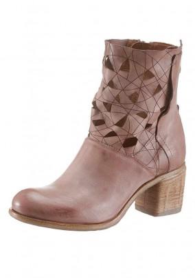 Odiniai rausvi auliniai batai