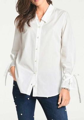 """Balti marškiniai """"Nice"""". Liko 40 dydis"""