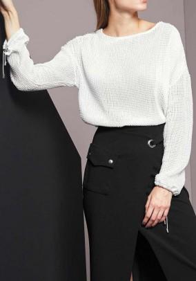 Trumpas baltas megztinis