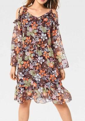 Chiffon dress, multicolour