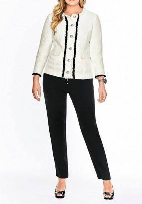 Jacket, cream-black