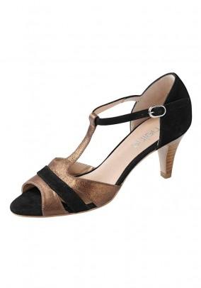 Sandal, black-bronze colour