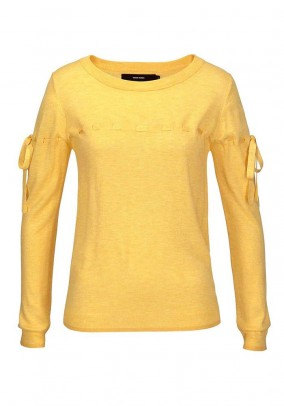 Geltonas VERO MODA megztinis