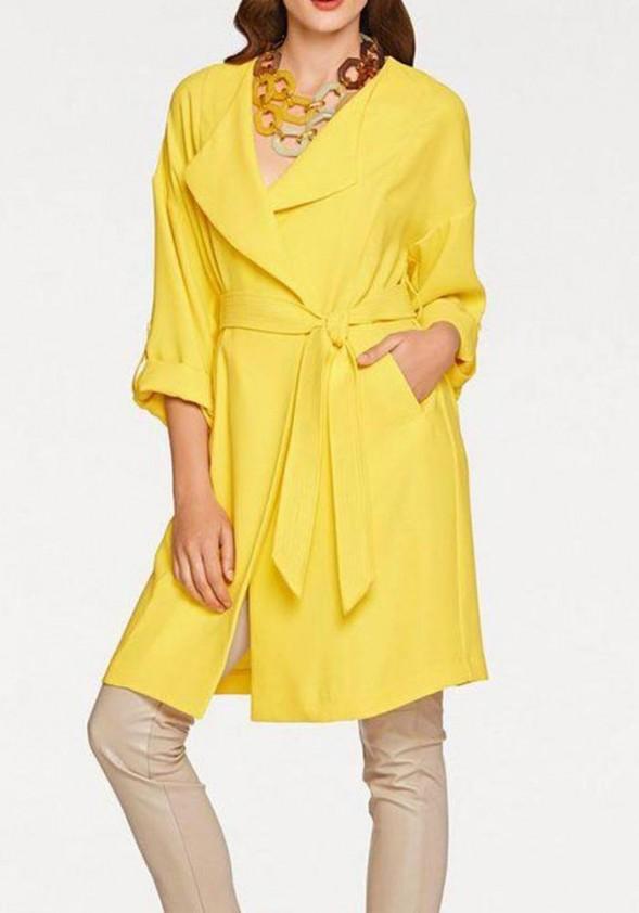 Coat, yellow