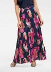 Ilgas klostuotas gėlėtas sijonas