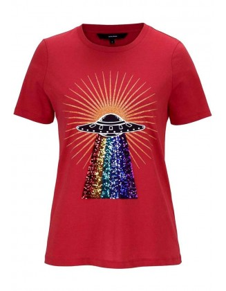 Raudoni VERO MODA marškinėliai