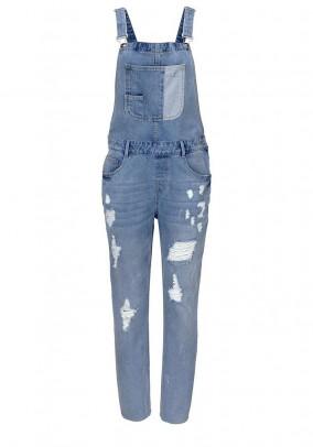 Denim overalls, light blue