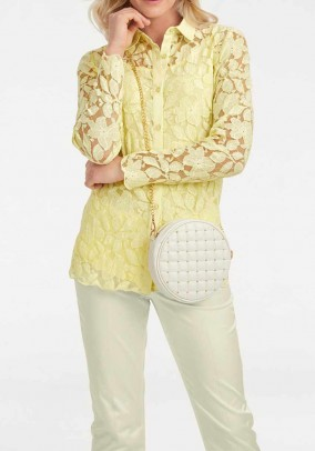 Lace blouse with top, yellow