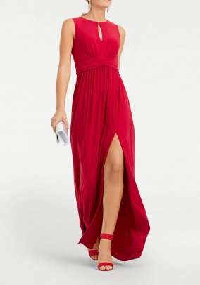 Evening gown, red