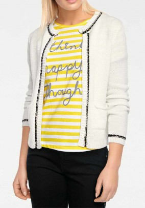Cardigan, wool white