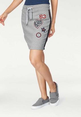 Sportinis pilkas sijonas