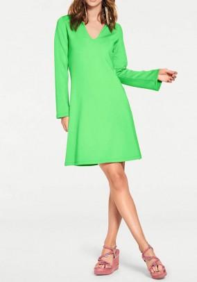 Jersey dress, green