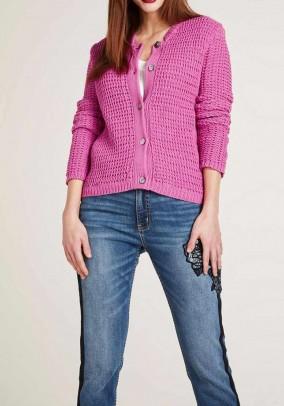 Knit cardigan, pink