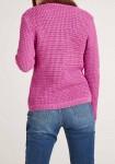 Rožinis trumpas megztinis