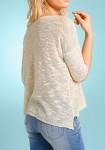 Laisvo pasiuvimo smėlinis megztinis