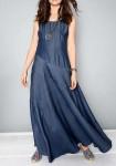 Ilga džinsinė suknelė