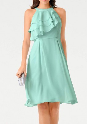Chiffon dress, mint