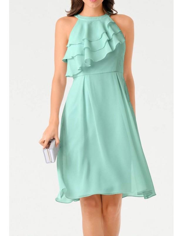Mėtinė kokteilinė suknelė